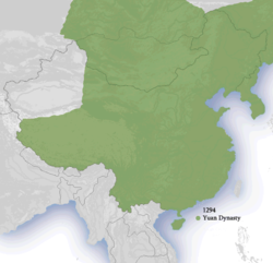 Location of Yuan dynasty