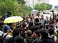 Yuen Long Protest Long Ping Station outside shouting 20150301.jpg