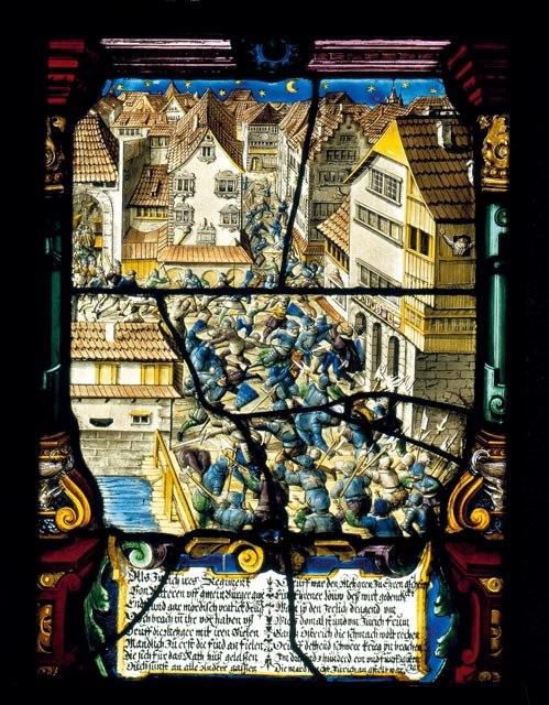 Zürich - Mordnacht 1350 Wappenscheibe