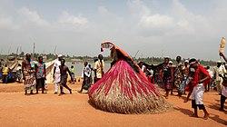 Zangbeto in Vodoun Festival Grand Popo Benin Jan 2018.jpg