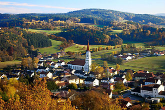 Bavarian Forest - The village of Zell in the Bavarian Forest