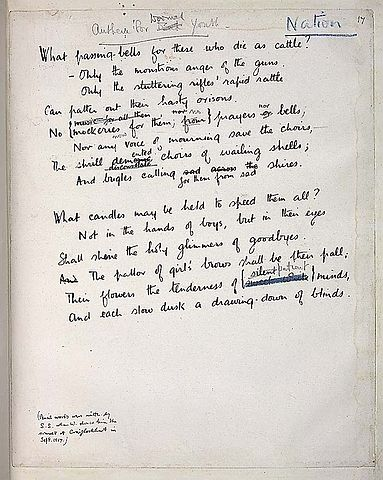 Fileanthem For Doomed Youth By Wilfred Owen Englishjpg