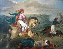 """Mounted Greek Warrior"" (1856) - Eugene Delacroix.jpg"