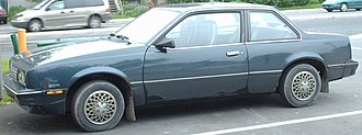 Chevrolet Cavalier - 1986–1987 Chevrolet Cavalier coupe