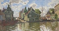 'Canal à Zaandam' by Claude Monet, 1871.JPG