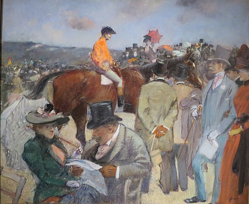 'The Horse Race' by Jean-Louis Forain, Pushkin Museum