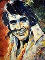 'The King' Portræt af Elvis Aaron Presley.jpg