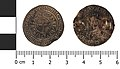 (2019 T735) silver brooch formed from a Medieval coin of Philip IV of France (obverse and reverse) (FindID 967947).jpg
