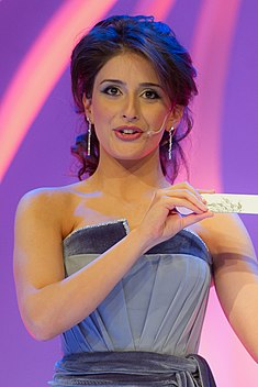 (Leyla Aliyeva) Eurovision Song Contest 2012, semi-final allocation draw (4).jpg