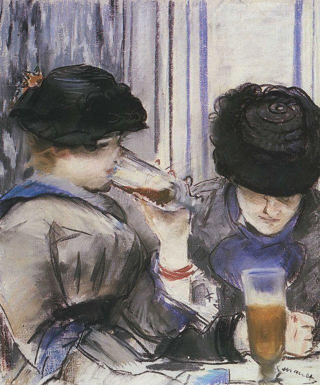 Buveuse de Bocks d'Edouard Manet (vers 1878) au musée Burrell de Glasgow.
