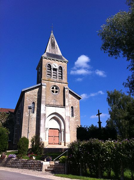 Église Saint-Laurent de Curciat-Dongalon, Ain, France.
