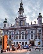 České Budějovice - Ayuntamiento y espectáculo.jpg