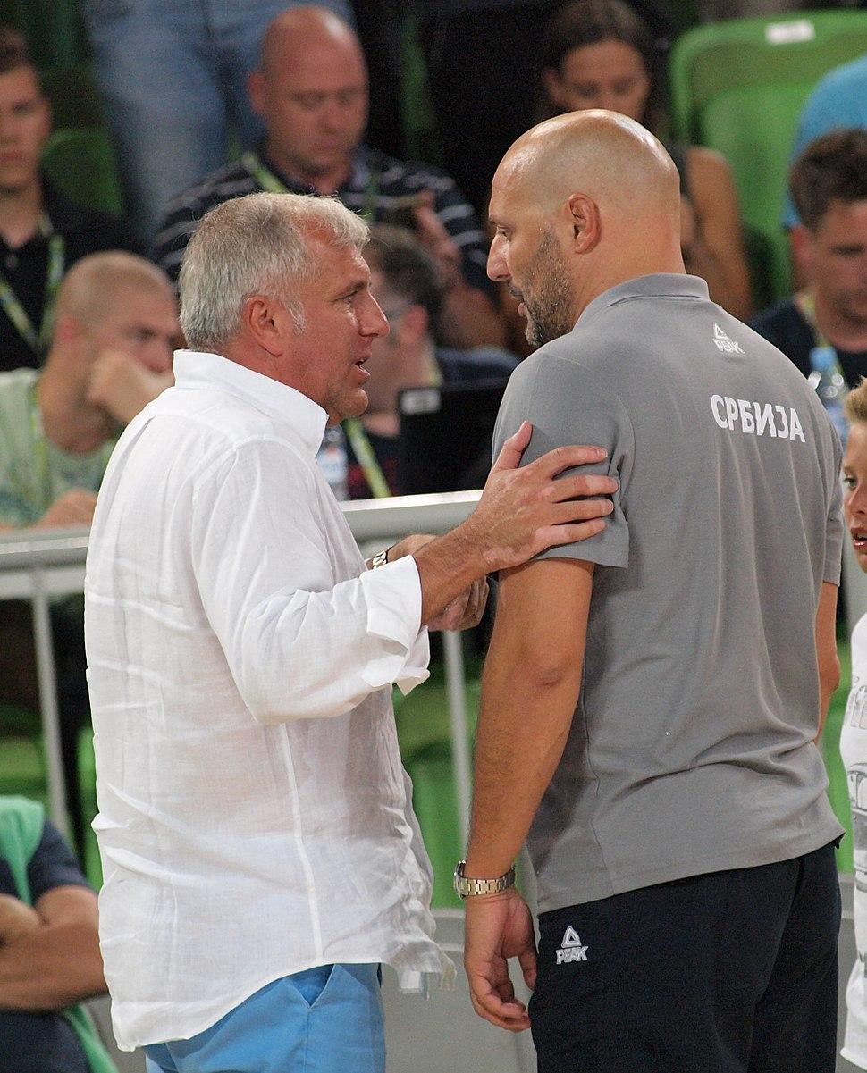 Željko Obradović and Aleksandar Đorđević