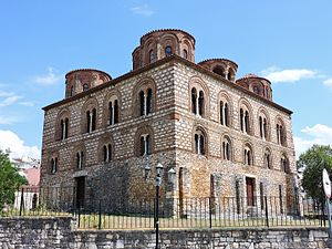 Arta, Greece - The 13th-century Church of the Parigoritissa, formerly site of the Archaeological Collection of Arta.