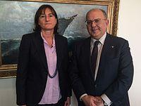 Πραγματοποιηθείσα συνάντηση ΑΝΥΠΕΞ, Ν. Ξυδάκη, με την Πρέσβη της Βουλγαρίας, E. Kraleva (ΥΠΕΞ, 3.11.2015) (22752761415).jpg