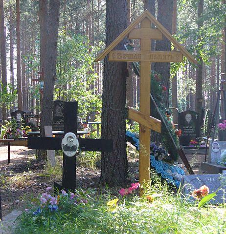 Могила Эдуарда Старкова на городском кладбище города Выборга. Июнь 2011г.