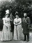 Николая II и великий князь Владимир Александрович с женами.jpg