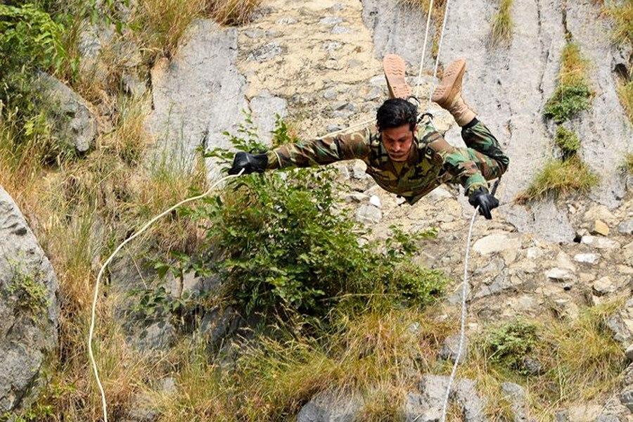 Первая совместная тренировка по горной подготовке в рамках российско-пакистанского тактического учения «Дружба-2016» (7)