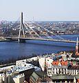 Рига (Латвия) Вантовый мост - panoramio.jpg