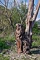 Сочинский национальный парк. Скульптура Русалка в начале дороги в Свирское ущелье.jpg