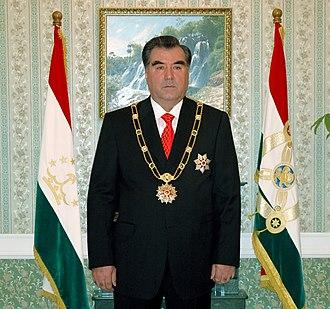 President of Tajikistan - Image: Эмомали Рахмон Президент Таджикистана