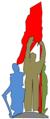 哈爾濱市人民防洪勝利紀念塔:塔頂人物塑像剪影.png