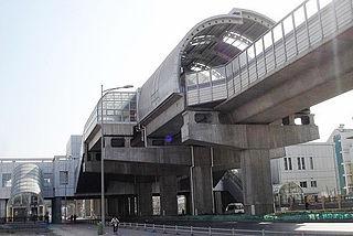 Huashanli station metro station in Tianjin, China