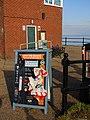 -2019-01-20 Beach clean sign and equipment, Mundesley, Norfolk (1).JPG