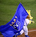 -WorldSeries Game 1- Sluggerrr celebrates (22264716914).jpg