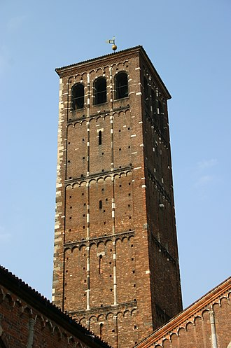 Basilica of Sant'Ambrogio - The Canons' bell tower.