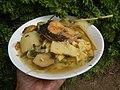 0099Nilagang repolyo, petsay Tagalog, kamote, patatas, kamatis at Pritong Dalag (Bulig) sa tanglad 12.jpg