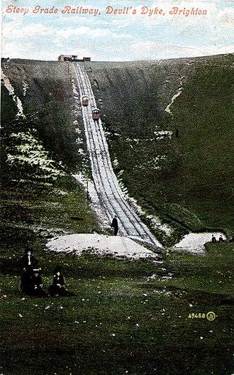 Devil's Dyke, Sussex - Steep Grade Railway about 1908