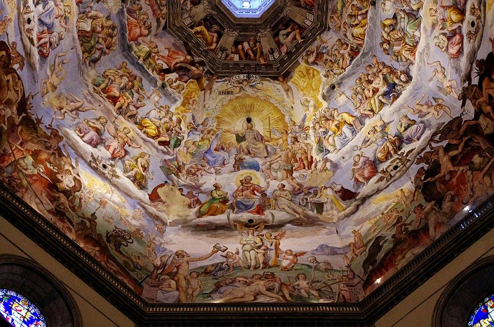 03 2015 Giudizio Universale-Cristo-Giorgio Vasari-Federico Zuccari-Cupola-Santa Maria del Fiore (Firenze) Photo Paolo Villa FOTO9275bis