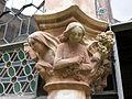 044 Castell de Santa Florentina (Canet de Mar), pati, capitell a l'entrada de la cripta.JPG