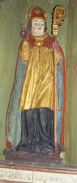 File:065 Plougastel Chapelle Saint-Guénolé Tryptique Panneau central Saint Caradec.JPG