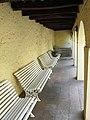 066 Casa Prat de la Riba (Castellterçol), bancs al porxo.JPG