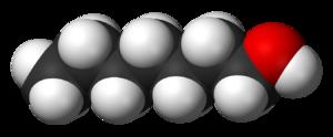1-Heptanol - Image: 1 Heptanol 3D vd W