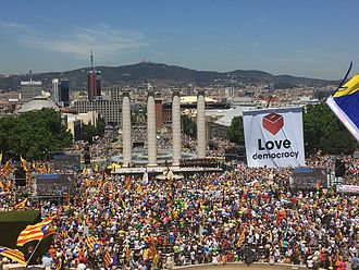 Catalan independence movement - Pro-referendum rally in Montjuic, 11 June 2017