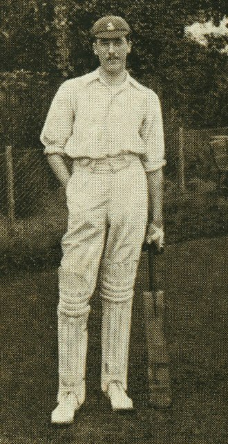 Kent County Cricket Club - Frank Woolley who made his Kent debut in 1906 and holds the record for the number of runs scored and appearances made for the county.