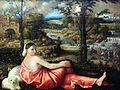 1522 Cariani Ruhende junge Frau in einer Landschaft anagoria.JPG