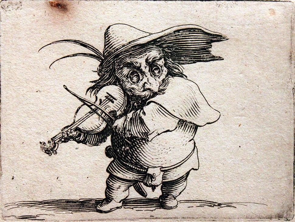 1620 Callot Zwerg mit Violine anagoria
