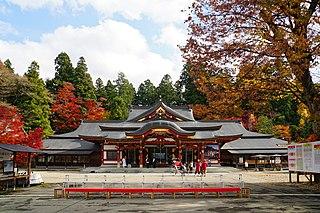 shinto shrine in Morioka, Japan