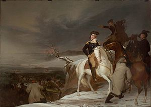 George Washington's crossing of the Delaware River - Depiction of the crossing by Thomas Sully, 1819