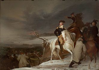 Henry Knox - Men are visible behind Washington working to unload cannon in Thomas Sully's 1819 Passage of the Delaware.