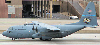 137th Special Operations Wing - 185th Airlift Squadron Lockheed C-130H, AF Ser. No. 78-0806, in 2000, wearing the new tactical grey paint scheme used by the unit
