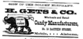 1875 Gets candy advert Dauphin Street in Mobile Alabama.png