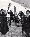 1879-01-18, Le Monde illustré, Une exécution en Espagne, Le supplice du garrot, Exécution de Oliva Moncasi, au Campo de Guardia, le 4 janvier, Vierge (cropped).jpg