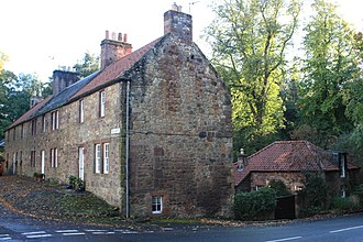 Gifford, East Lothian - 18th century houses on the Avenue, Gifford, East Lothian