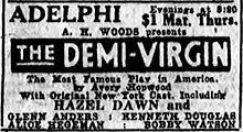 Black and white newspaper ad