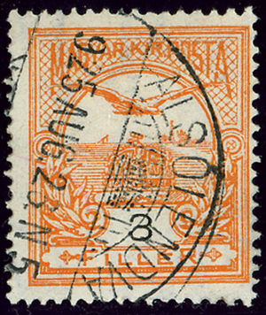 Lendava - Hungarian stamp and name still in use in 1925